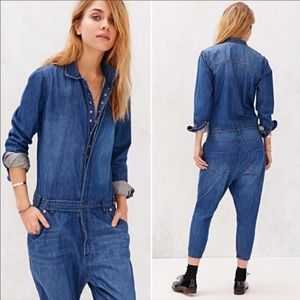 One Teaspoon UO chambray jean jumpsuit